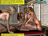 Sexy tentacle cock witches adore fucking hot knights!