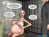 Nasty bitch gets her pussy filled with alien machine cum and impregnated!